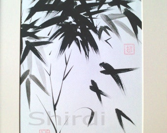 Bamboo Chinese Brush Painting Art Original