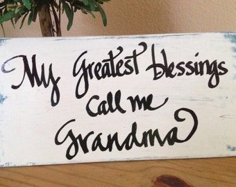 Grandma sign, grandma art, Mother's Day sign, nana gift