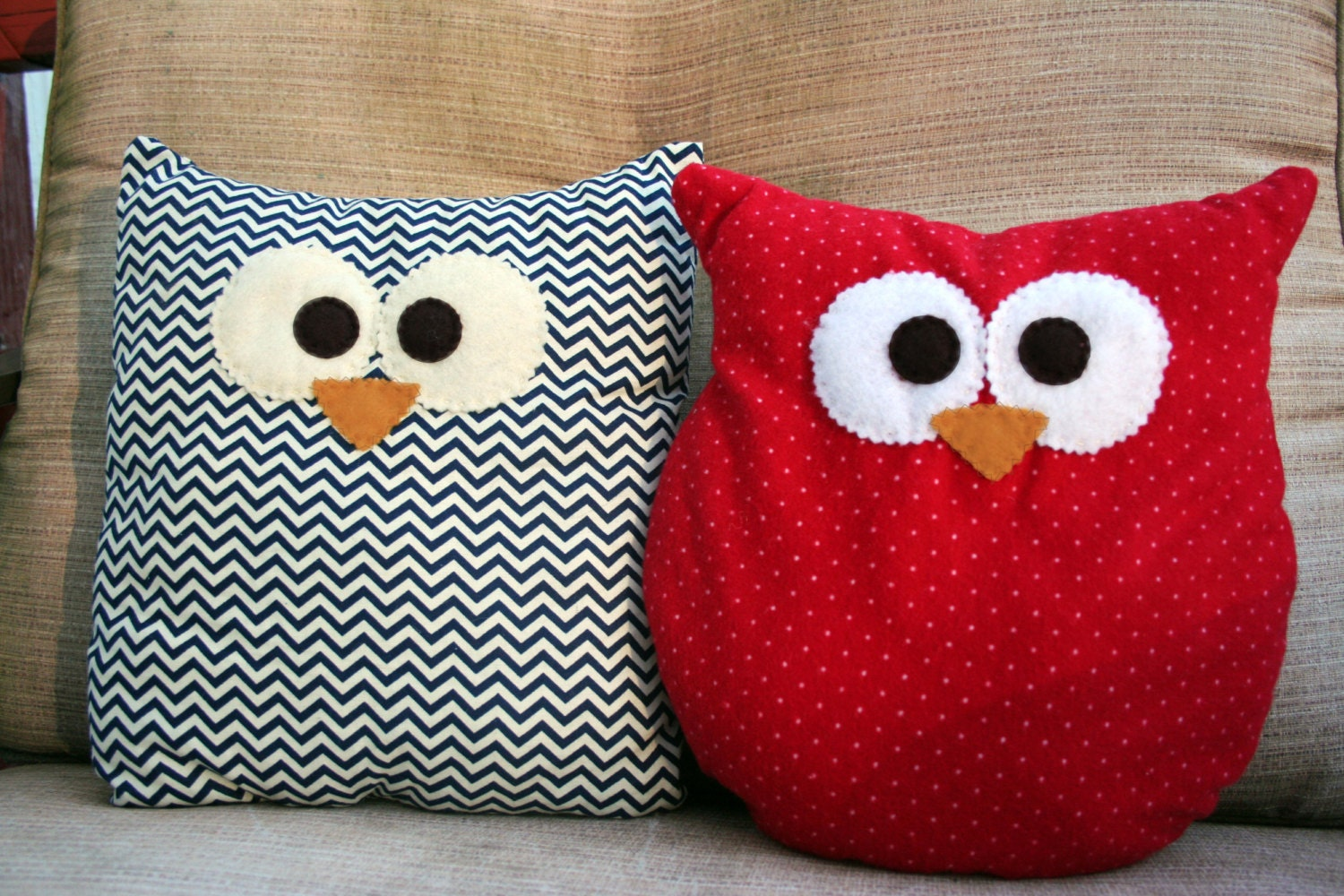 Cute Owl Pillow Pattern : Owl Pillow Custom Small or Large Choose From Multiple