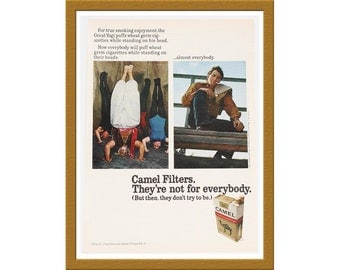 "1971 Camel Cigarettes Color Print AD / They're not for everybody / 7"" x 10"" / Original Advertisement / Buy 2 ads Get 1 FREE"