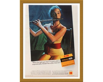 "1981 Kodak Color Print AD / Kodacolor 400 film / 9"" x 12"" / Original Advertisement / Buy 2 ads Get 1 FREE"