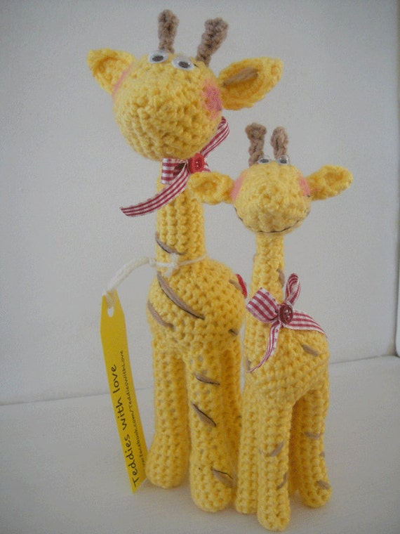Crochet giraffes - pattern PDF document