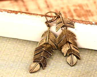 Bronze earrings * spring * e200