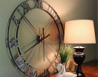 "36"" Wall Clock - Industrial Steel/Metal  (Movement & Hands NOT INCLUDED)"