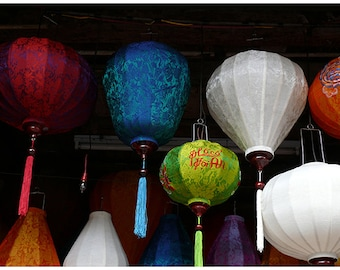 Original Fine Art Photography for wall decor, Vietnam Silk Lanterns18 x 24 cm (7,08''x 9,44'')