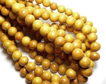 10mm Jackfruit Wood Beads, Round Wood Beads, Jackfruit Yellow Wood Beads, Large Wood Beads, Wood Beads, Wooden Beads, Craft Beads D-N06
