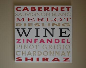 12x12 Wine Subway Art