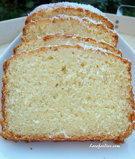 SALE/Coconut Cream Pound CakE/ 1 lb. loaf/Sugar FREE/Gluten Free ...