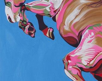 Equestrian Print of Azure