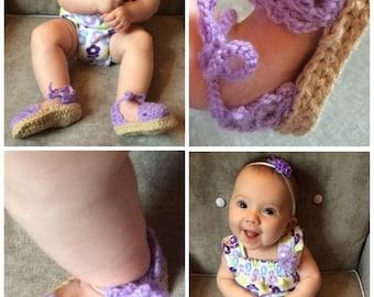 Baby Girl Espadrille Booties