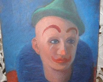 Harlequin Clown Oil Painting