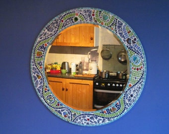 Mosaic Mirror Handmade - 75 cm - by Artist Sarah Whittington