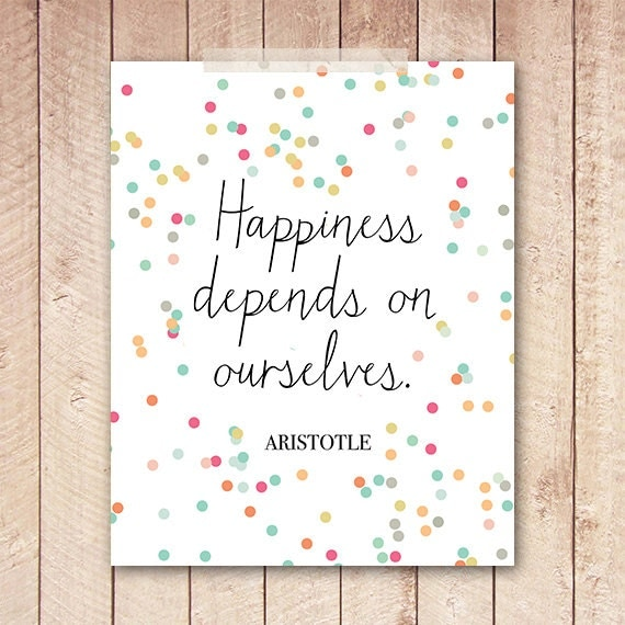 Aristotle Quotes On Happiness: 8x10 Art Print PRINTABLE Aristotle Quote By