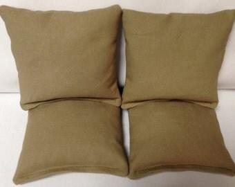 CORNHOLE BAGS 4 Tan/ Kahki Duck Cloth Regulation Bags