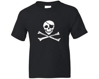 Kids Pirate Shirt - Classic Jolly Roger