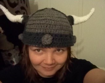 Crochet Dwarven or Viking Helmet