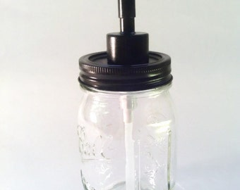 Mason Jar Soap Dispenser Oil Rubbed Bronze