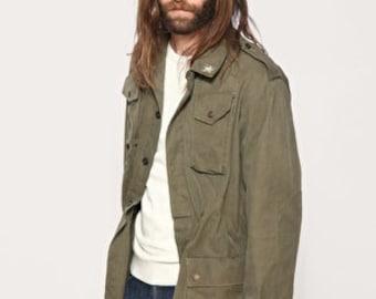 Vintage Italian  Army field jacket olive khaki military