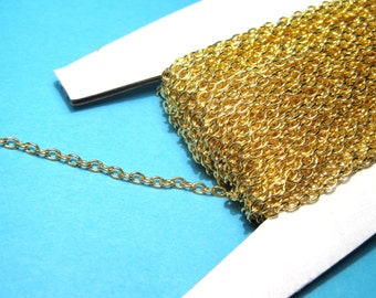 10ft Gold Plated Cable Chains Link-Opened 3x2mm(No.382)