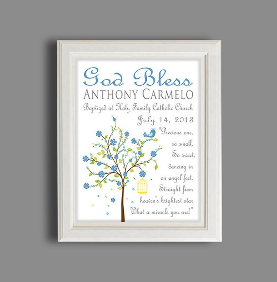 Baptism Gift Christening Gift Personalized Baptism Gift