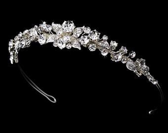 Rhinestone Bridal headband, Crystal Bridal headpiece, Bridal tiara, Wedding headpiece, Silver headband