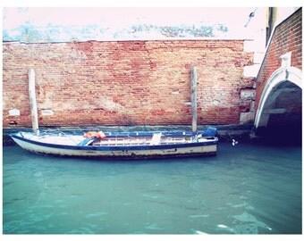 """Photo, """"Boat II"""", 8x10, Venice, Italy, Venice Photograph, -V"""