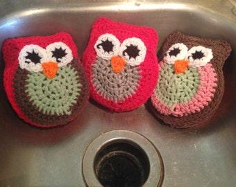 Owl Dish Scrubbie