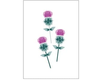 Three Thistles Art Print