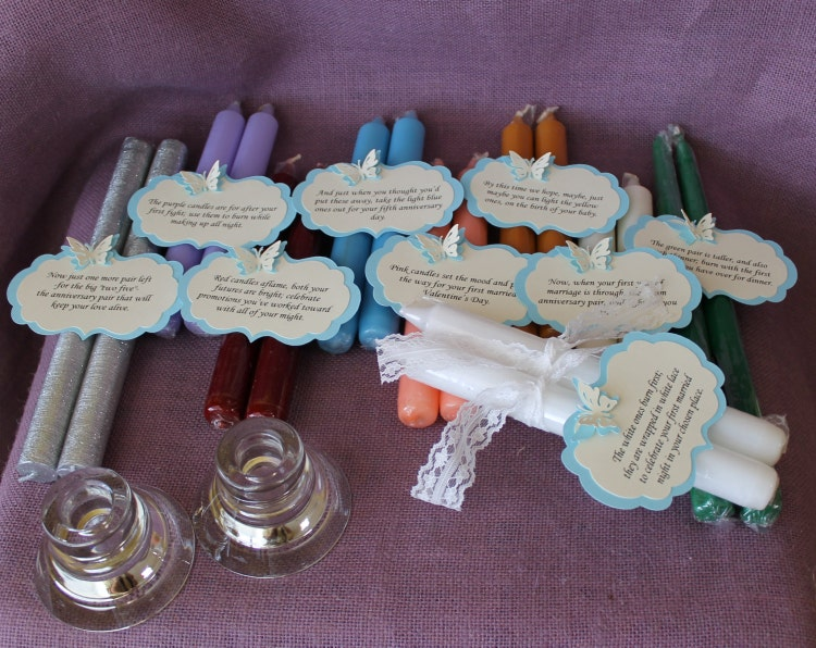 Wedding Gift Candle Poem : Wedding Shower Candle Poem Gift Set. Bridal by MadyBellaDesigns