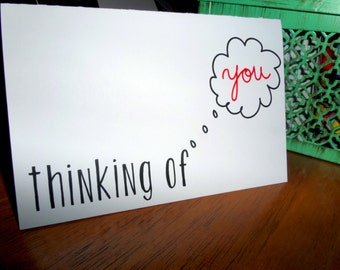 "Cute Just Because Card, ""Thinking of You"", Homemade Greeting Card"