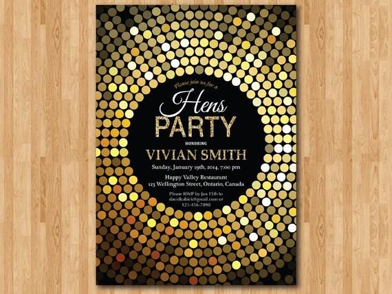 Golden Birthday Invitations is beautiful invitation design