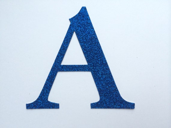 Large die cut glitter cardboard letter or number large 4 for Large letter die cuts
