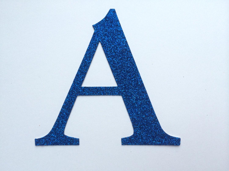 Large die cut glitter cardboard letter or number large 4 for Glitter cardboard letters