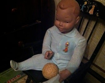 Seated Baby Mannequin -- pre-1950's?