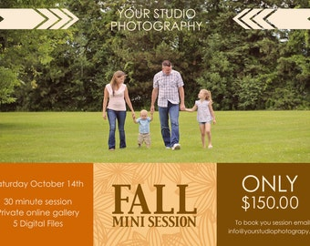Mini Session, Fall Mini Session, Fall Template, Fall Flyer, Mini Session Template, Flyer Template,