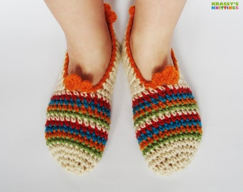 Handmade girl / woman slippers. Bulgarian tradition inspiration. Natural bulgarian wool. Feel the spirit of bulgarian Christmas!