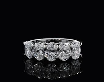 Five Stone Oval Cut Diamond Ring