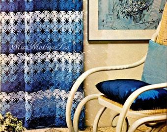 Ombre curtain crochet pattern shower curtain immediate download PDF