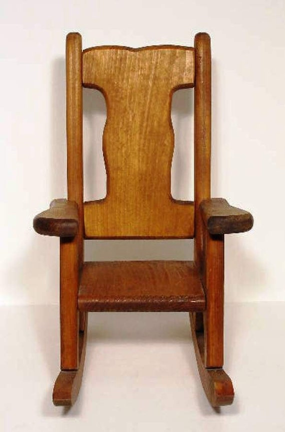 Doll Chair Wooden Rocker Sturdy Teddy Bear Rocking Chair Handcrafted ...