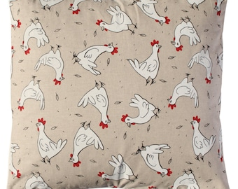 Chickens Pillow cover. Sizes Inches here.