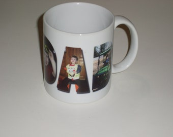 Personalize every morning cup of coffee with this high quality, durable,11 oz Personalized Photo Mug for DAD