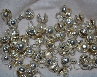 50 PC Vintage Silver Tone Indian Gypsy Bells(USA) (3024502)