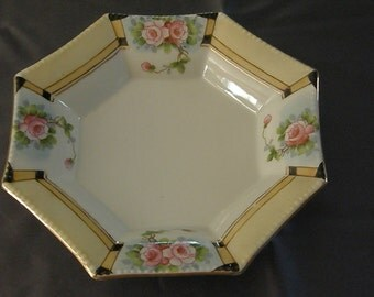 Vintage Octagonal Plate from Japan