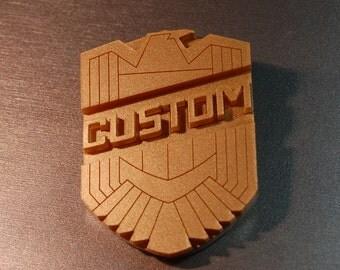 Personalised Custom Mini Judge Dredd Badge