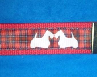 Scottish Terrier (scotty dog) wristlet key fob keychain