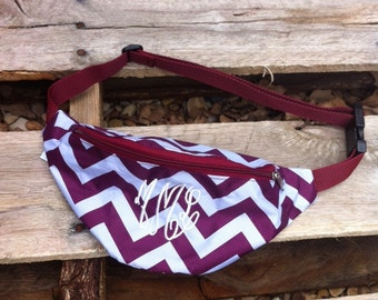 Monogrammed Fanny Pack - Chevron Pattern in Many Colors!