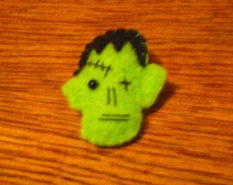 Felted Frankenstein Monster Brooch