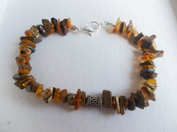 Men's Gemstone Chip Bracelet