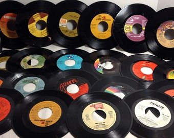 25 Vintage Vinyl Records Craft Art Grade 7 inch 45 rpm - Craft Art Supply