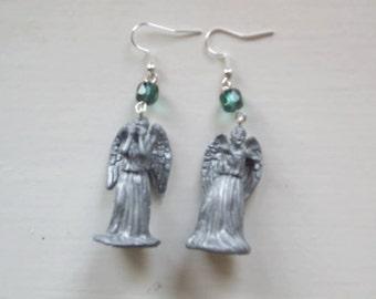Dr Who Weeping Angel earrings